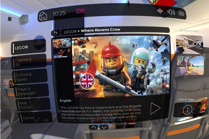 Screen shot of Inflight VR software environment